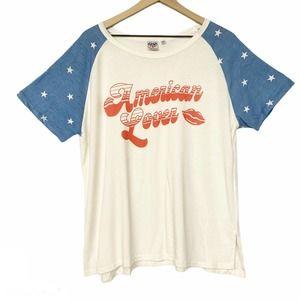 Junk Food American Lover patriotic tee shirt XXL